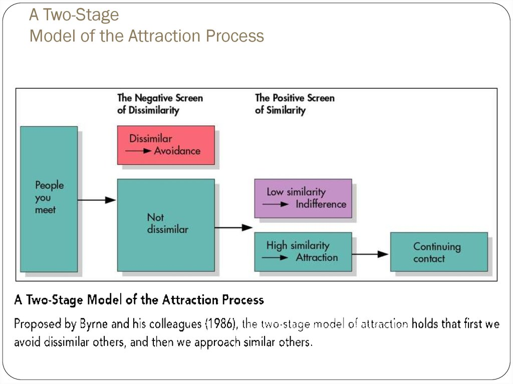 A Two-Stage Model of the Attraction Process