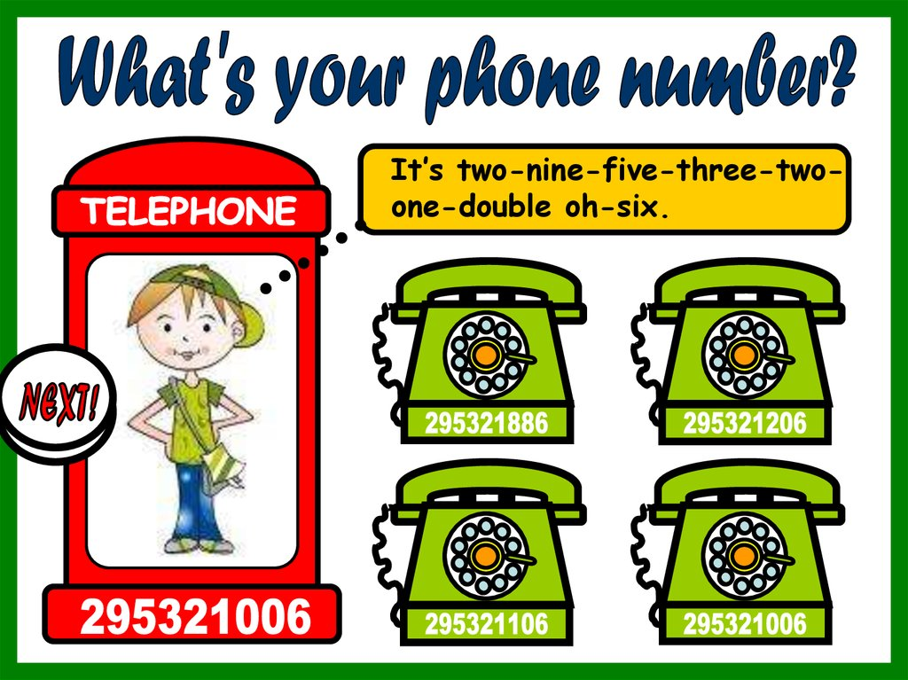 What's your phone number - online presentation