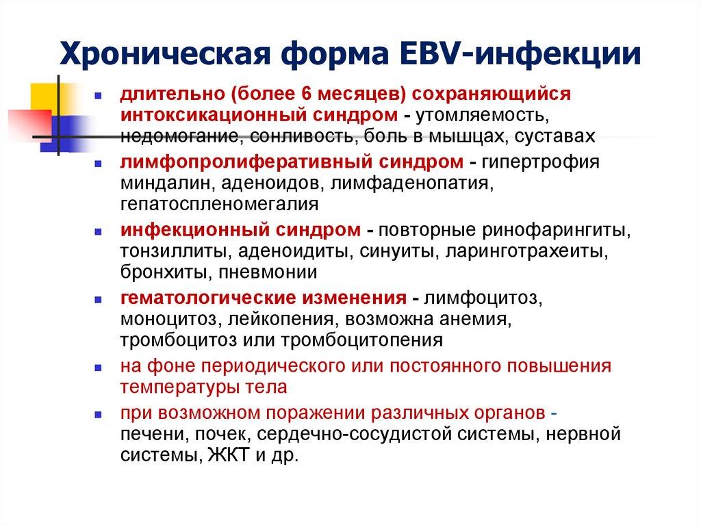 ebv инфекция что