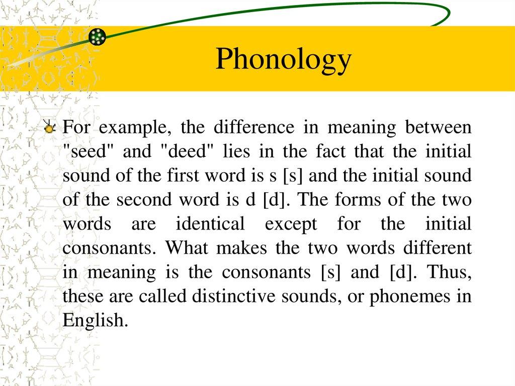 Phonetics And Phonology Online Presentation