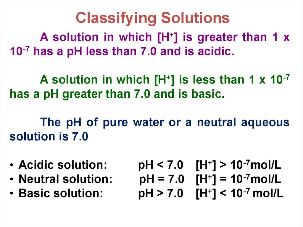 Classifying Solutions
