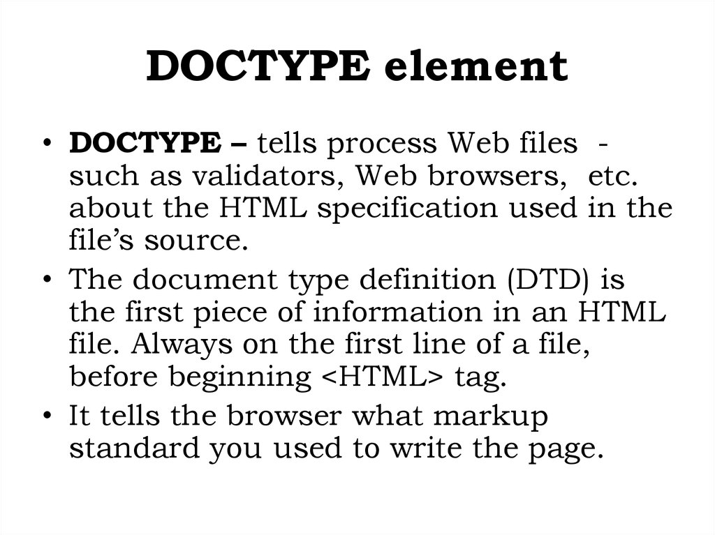 DOCTYPE element