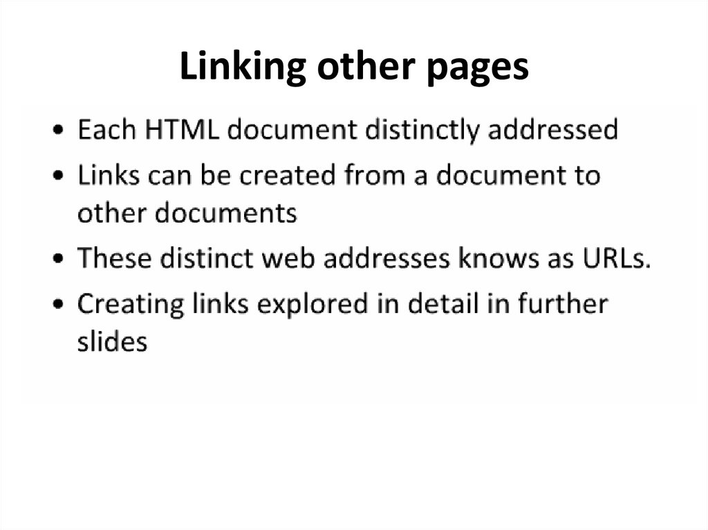 Linking other pages