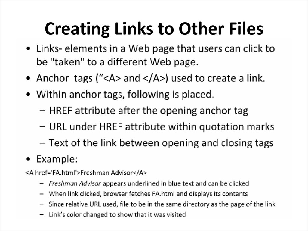 Creating Links to Other Files