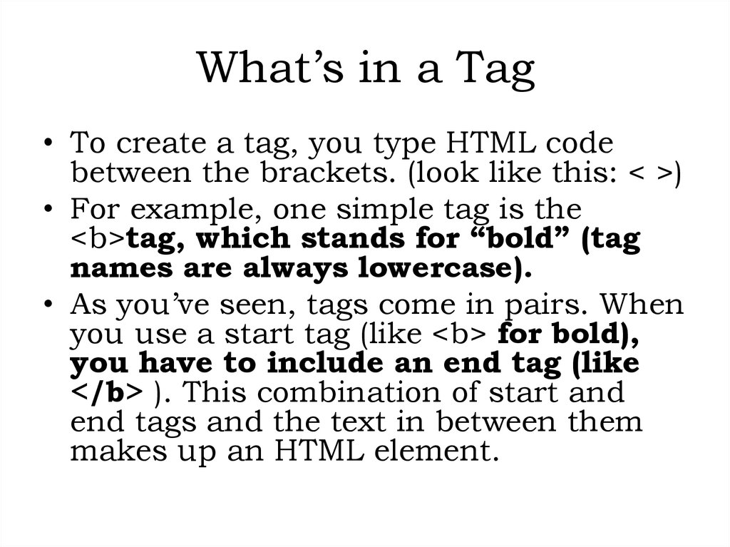 What's in a Tag