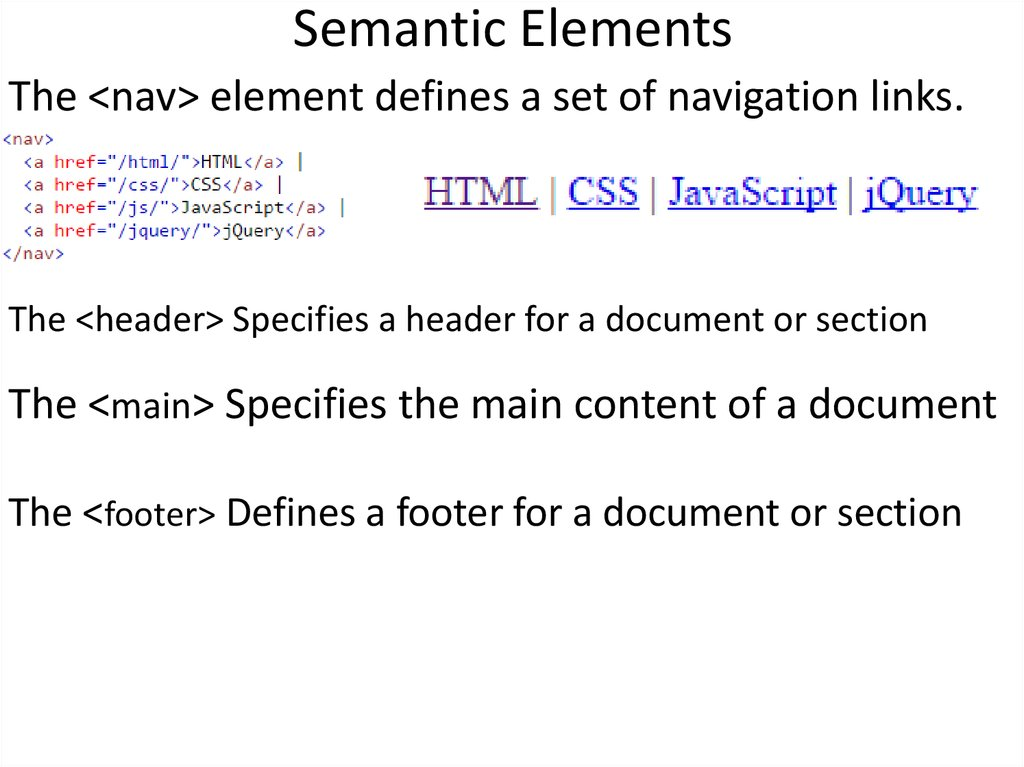 Semantic Elements