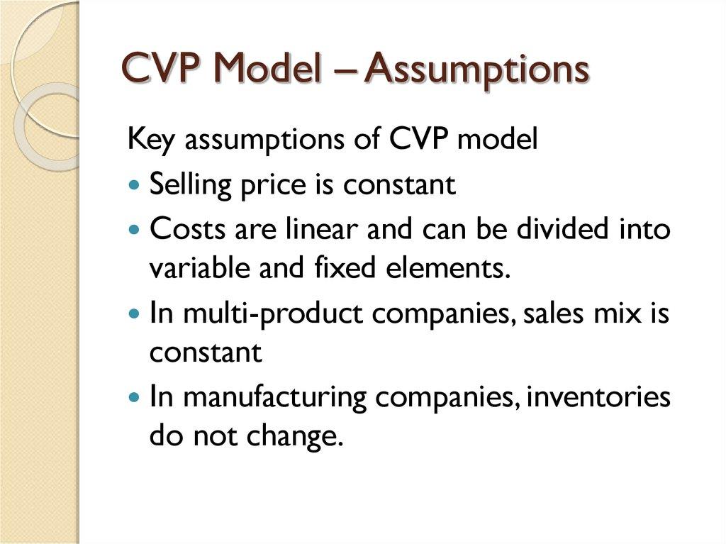 Cvp Analysis Example