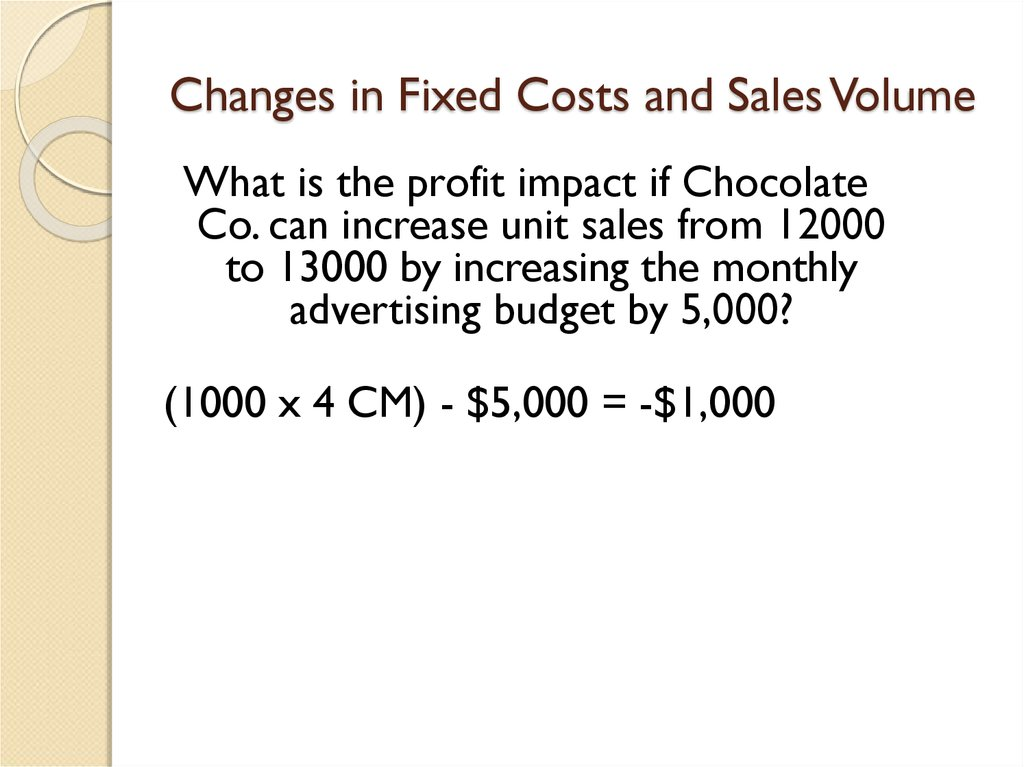 Cost-volume-profit (cvp) analysis - online presentation