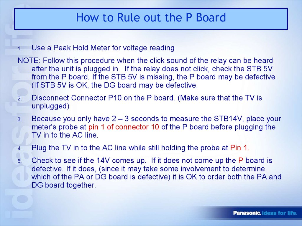 How to Rule out the P Board