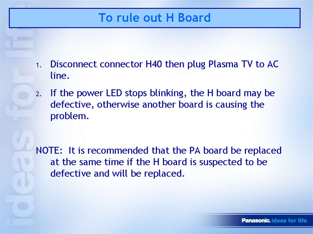 To rule out H Board