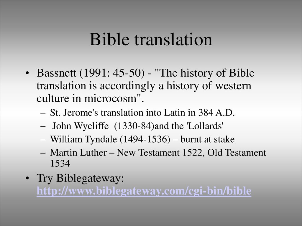 Bible translation