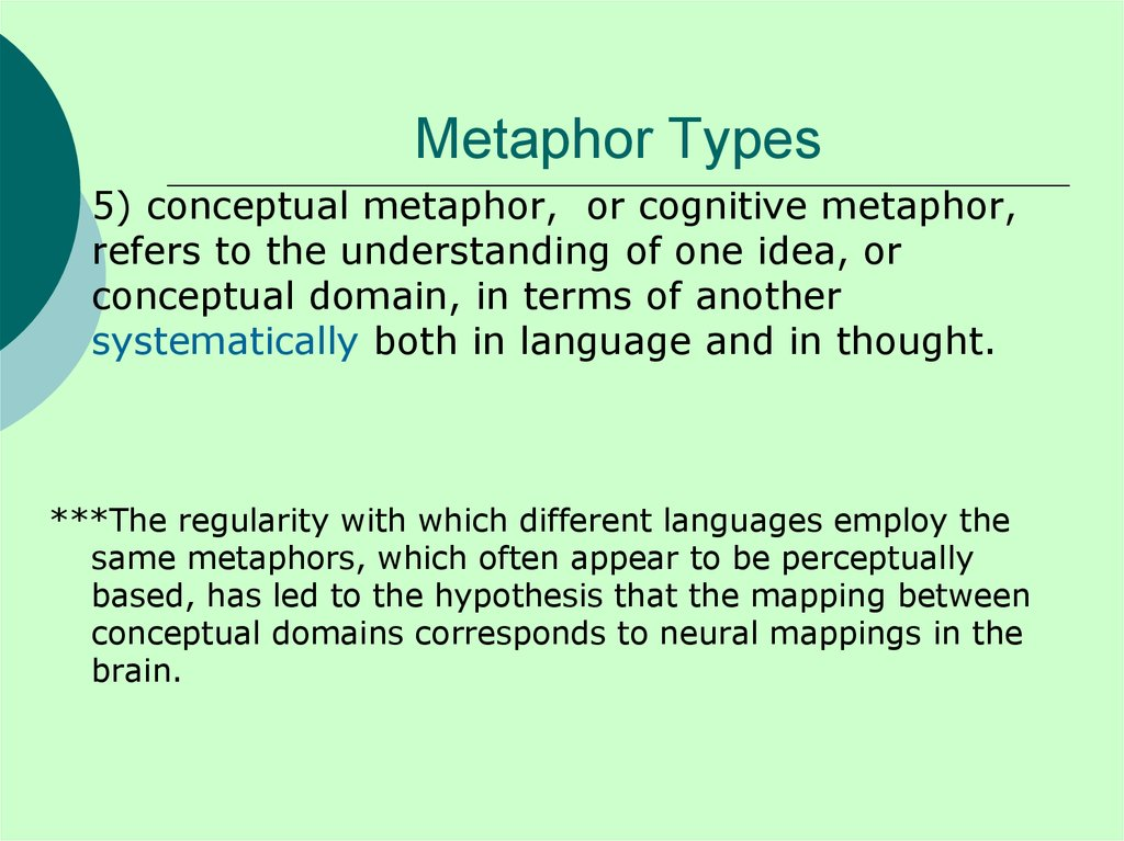Metaphor Types
