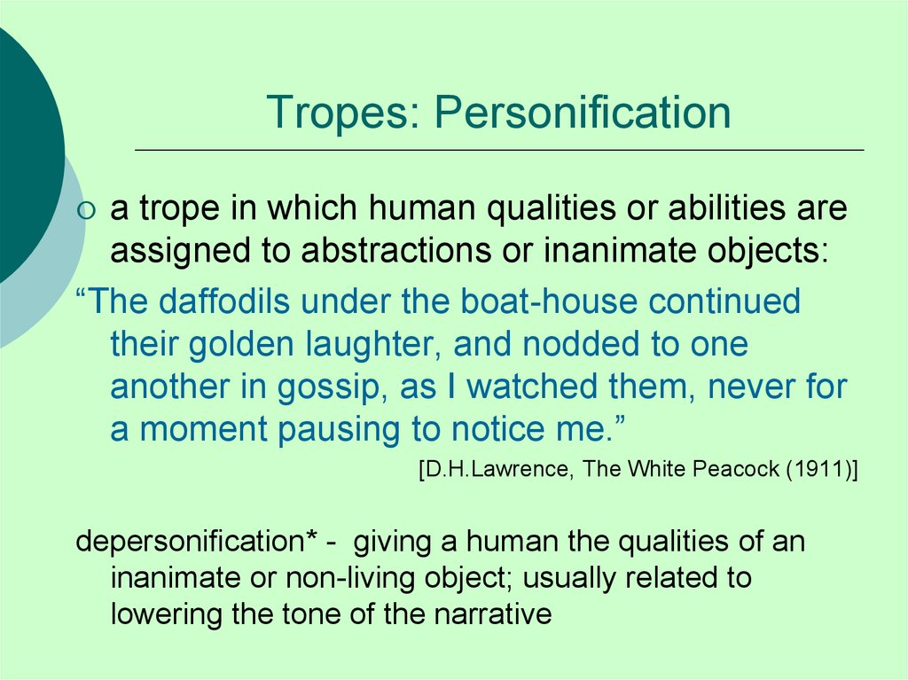 Tropes: Personification