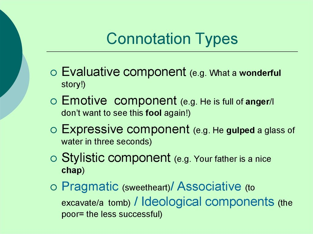 Connotation Types