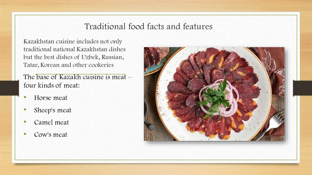 Traditional food facts and features