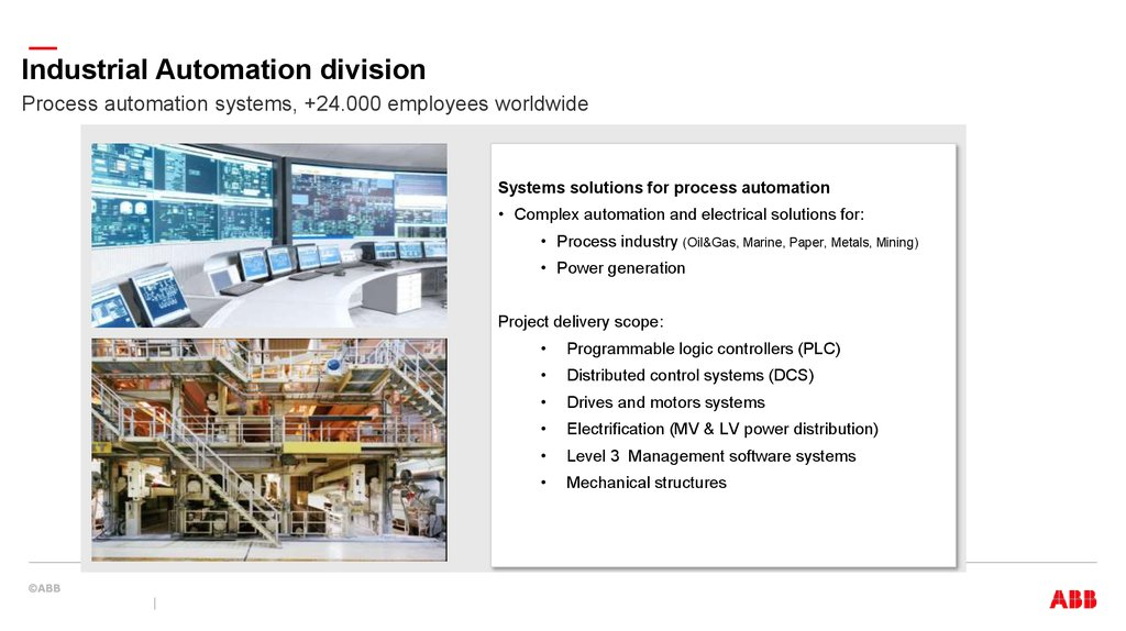 Industrial Automation division