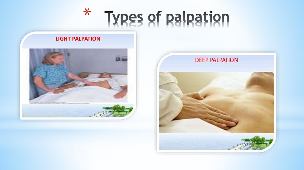 Types of palpation