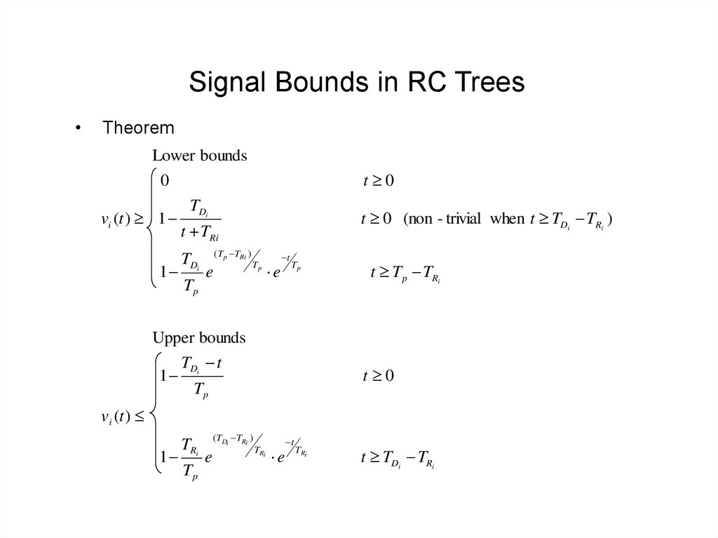 Signal Bounds in RC Trees