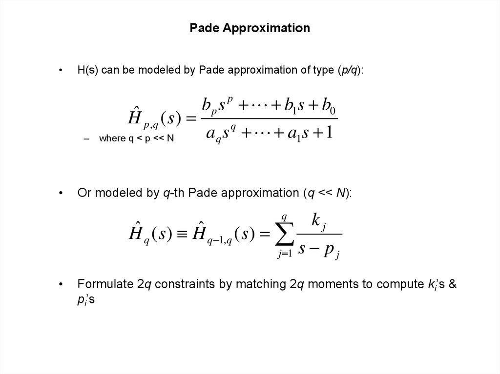 Pade Approximation