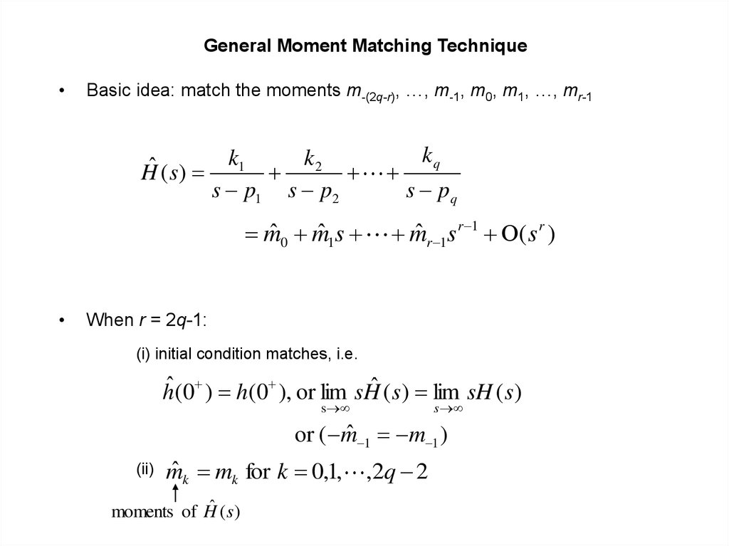General Moment Matching Technique