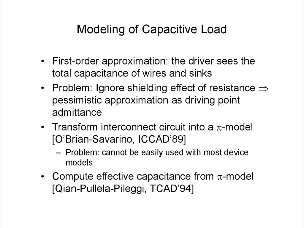 Modeling of Capacitive Load