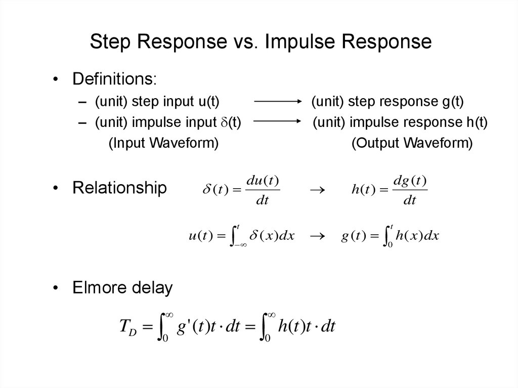 Step Response vs. Impulse Response