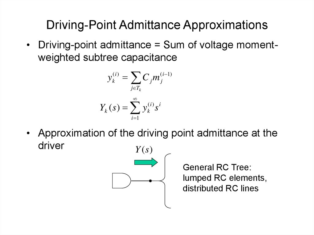 Driving-Point Admittance Approximations