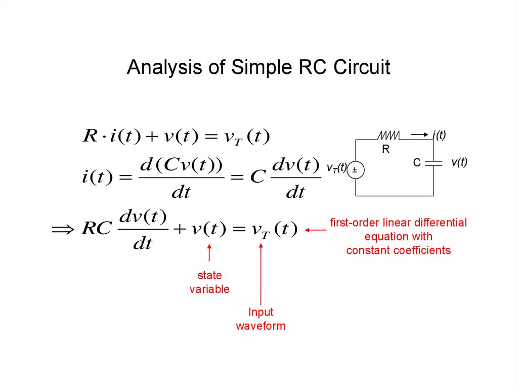 Analysis of Simple RC Circuit