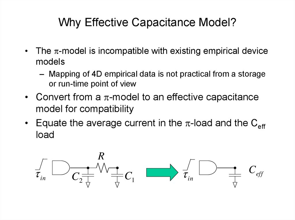 Why Effective Capacitance Model?