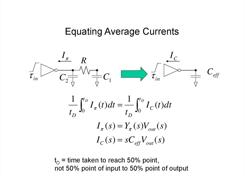 Equating Average Currents