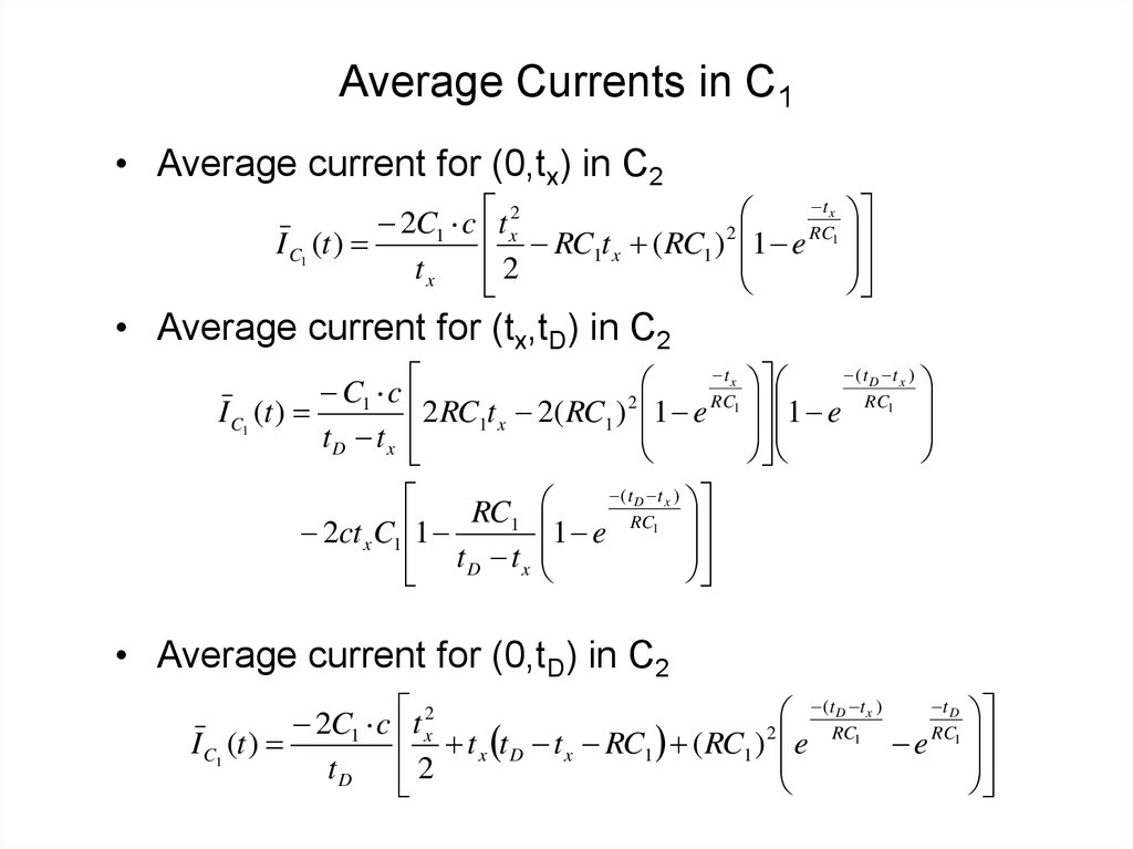 Average Currents in C1
