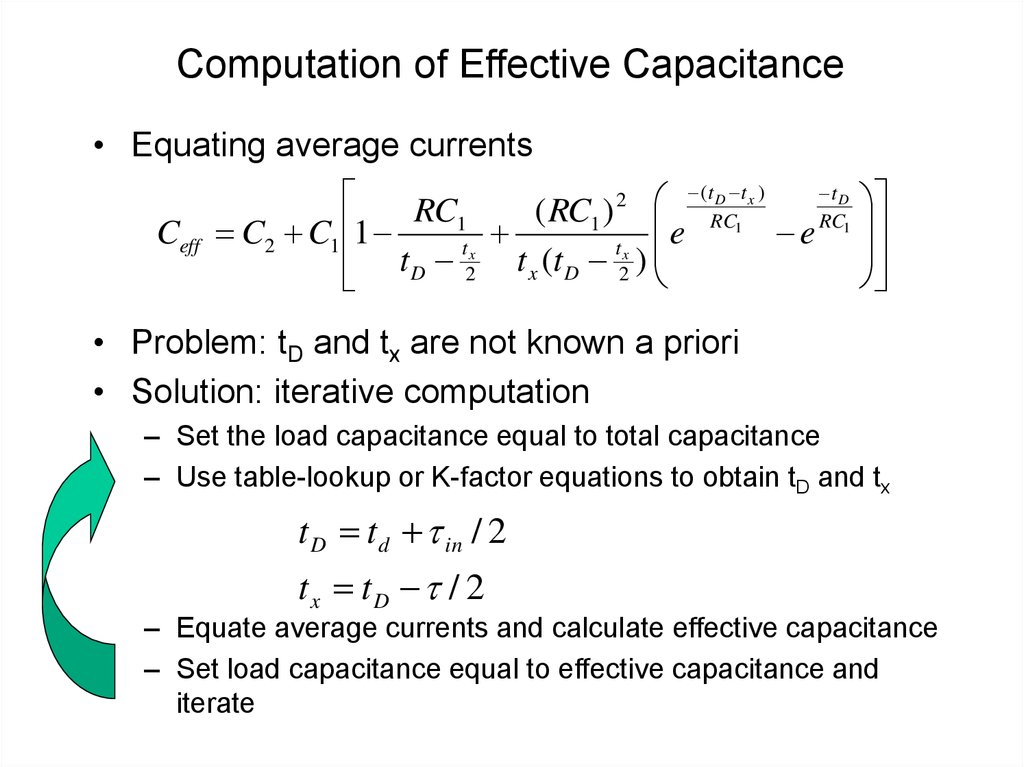Computation of Effective Capacitance