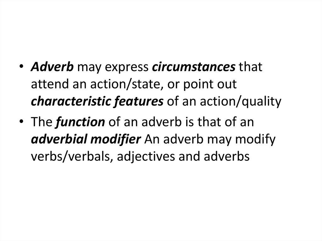 Adverb Morphological Structure Of Adverbs Online Presentation