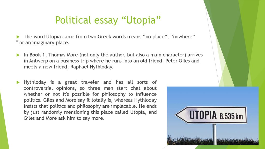 "Political essay ""Utopia"""