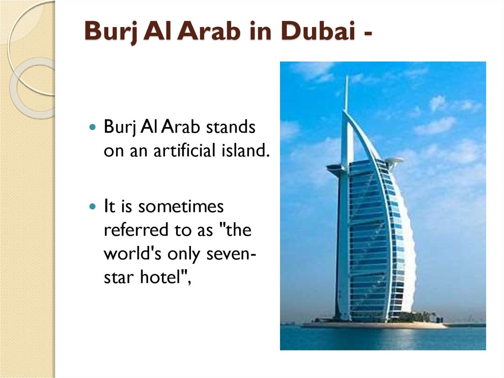 Burj Al Arab in Dubai -
