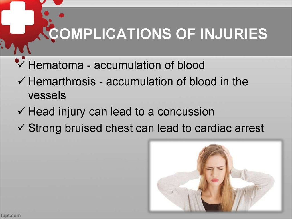 COMPLICATIONS OF INJURIES