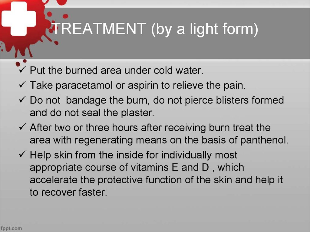 TREATMENT (by a light form)