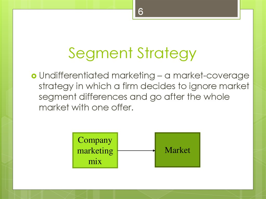marketing segmentation targeting strategy Segmentation, targeting and positioning (stp) are the three vital components of a firm's strategic marketing efforts organisations, in their endeavour to create a space for themselves in the market, may devise revolutionary products or services however, this is not enough they must also.