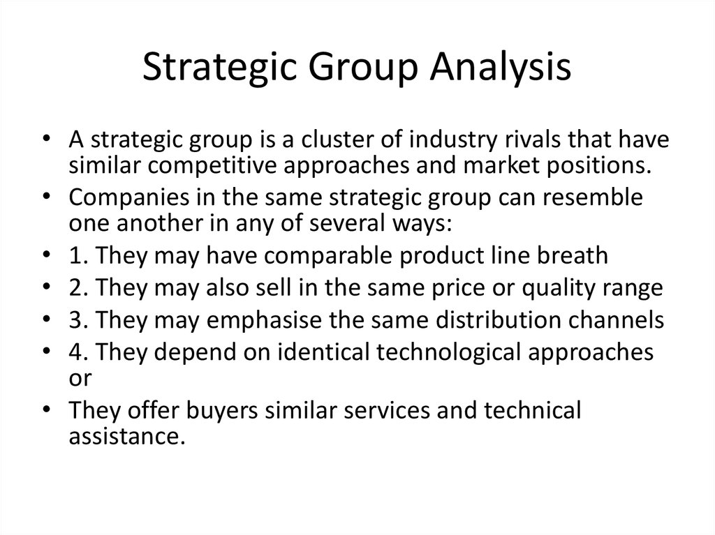 strategic group analysis uk supermarket industry Analyze the industry/market on the following parameters: a strategic group analysis competitive strength assessment (based on key success factors).