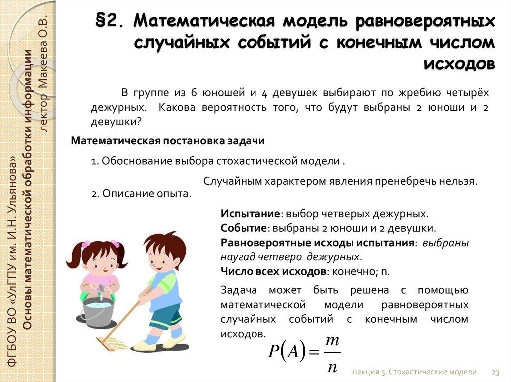 математическая девушка модель выбора работы