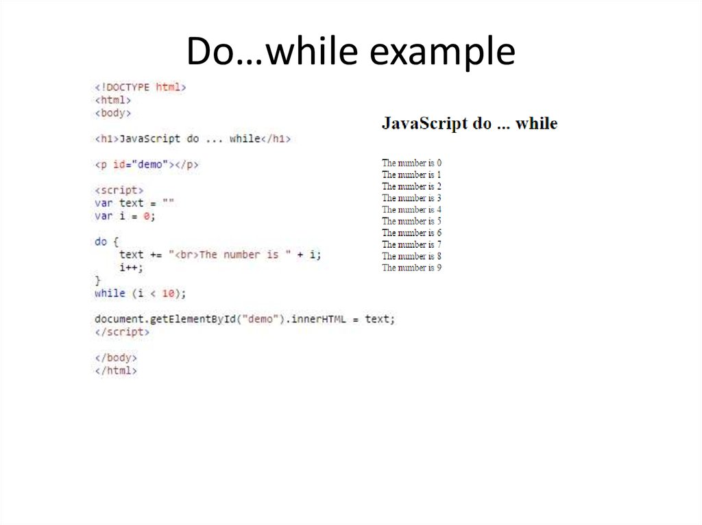 Do…while example