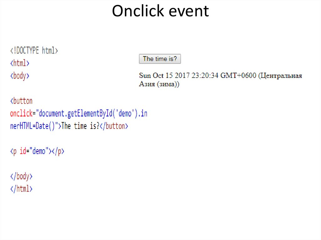 Onclick event