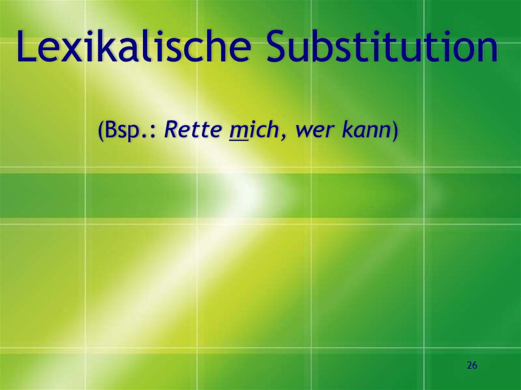 Lexikalische Substitution