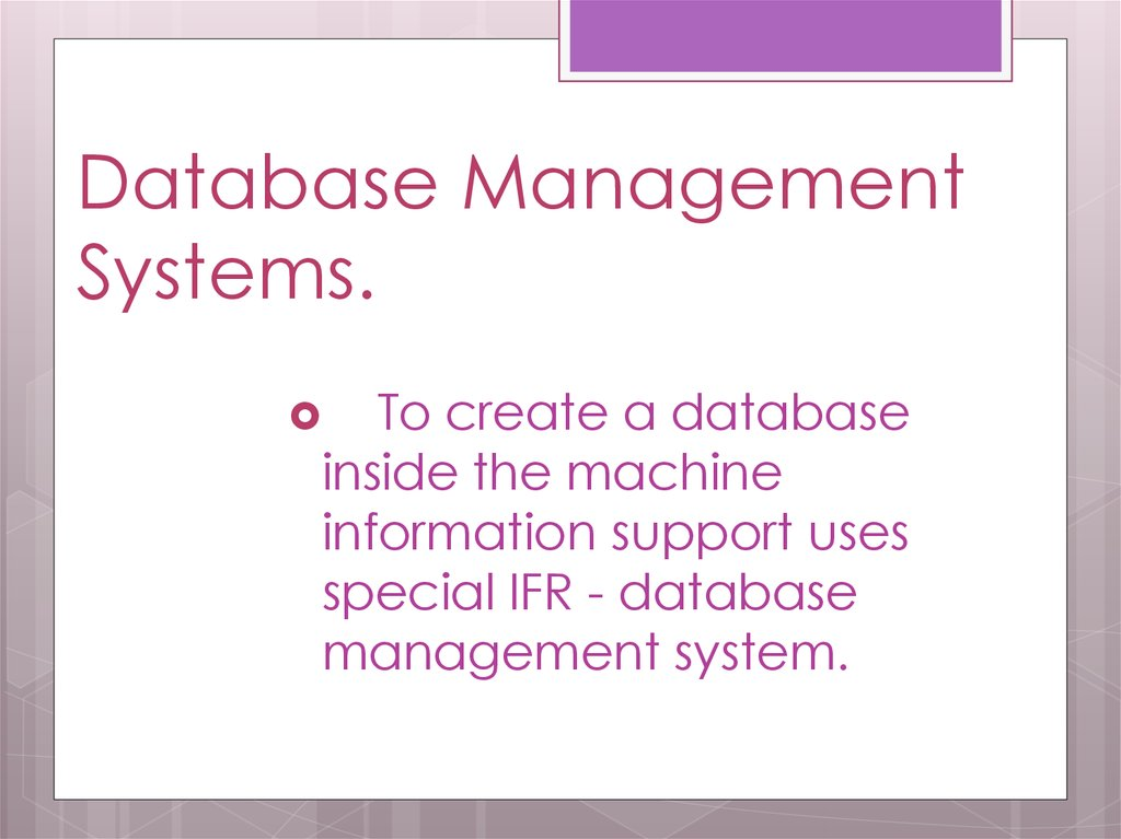 Database Management Systems.