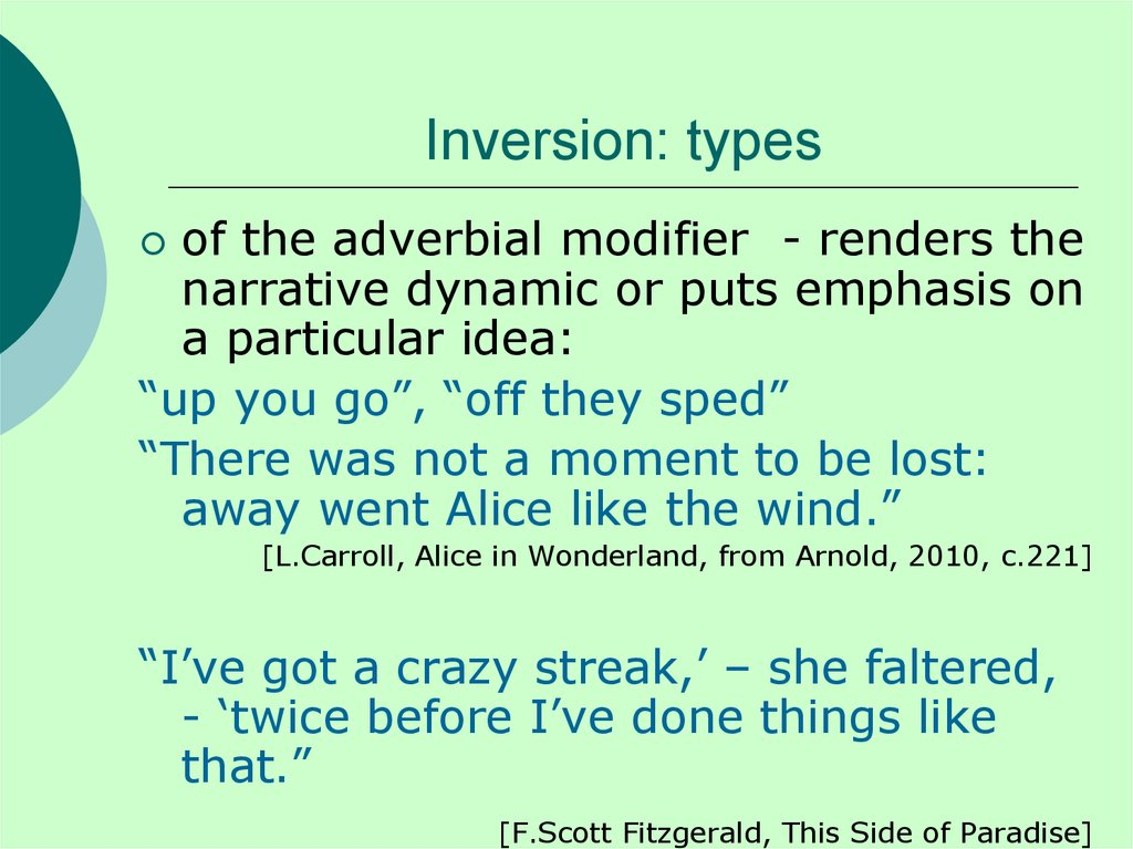 Inversion: types