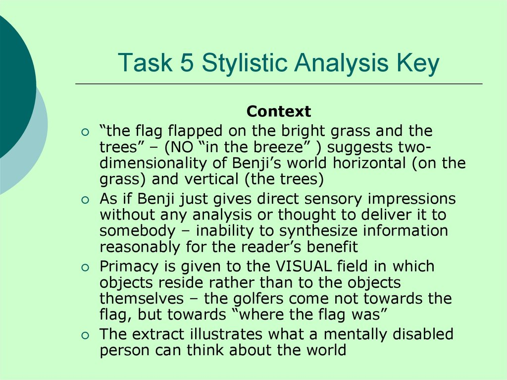 Task 5 Stylistic Analysis Key