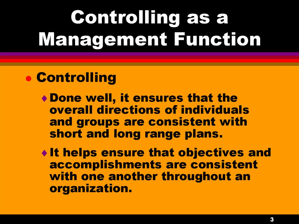 controlling process in management essay Read this business essay and over 88,000 other research documents management control introduction management control is to ensure that the organization achieves its objectives the budgeting process is done quite arbitrary by estimating the expenses in the next year or adding a few.