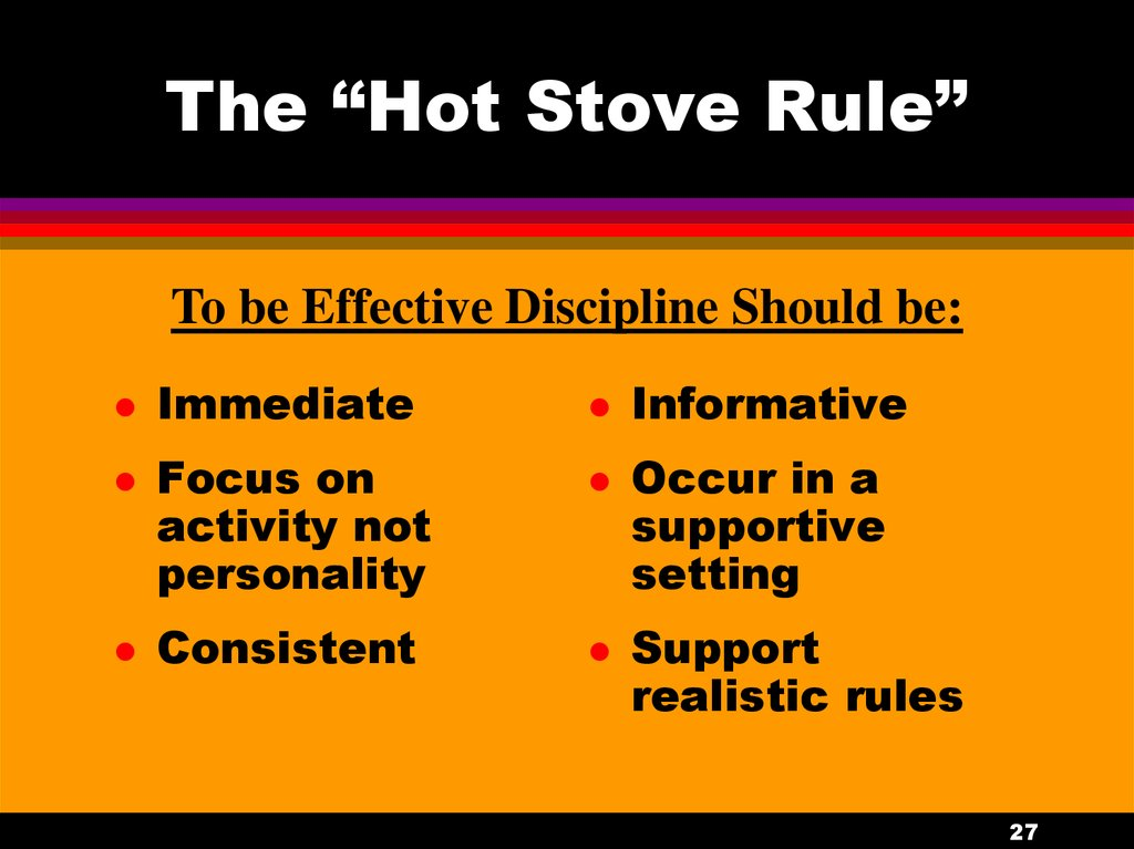 "The ""Hot Stove Rule"""