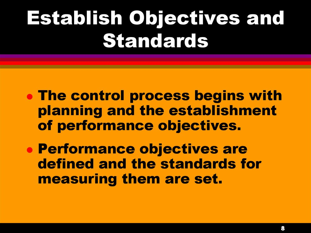 Establish Objectives and Standards