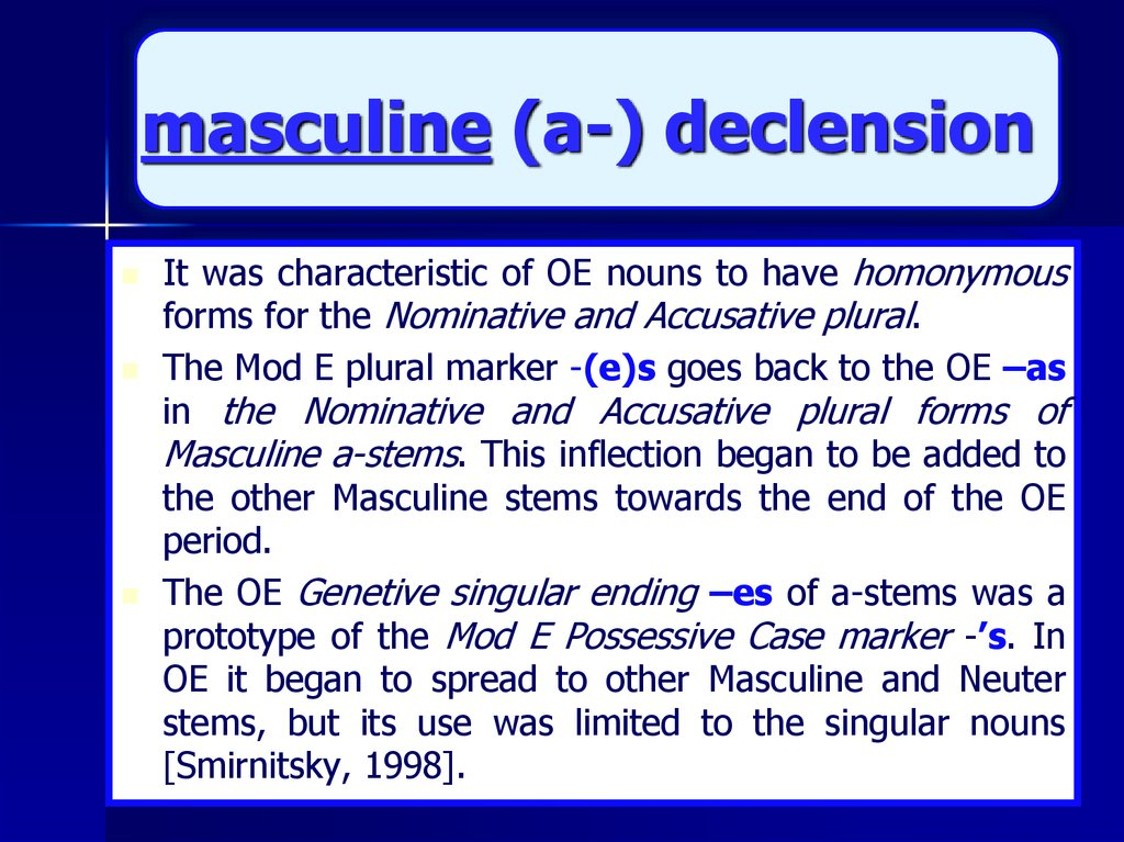 masculine (a-) declension